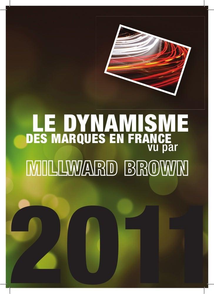 Millward Brown : le dynamisme des marques en France
