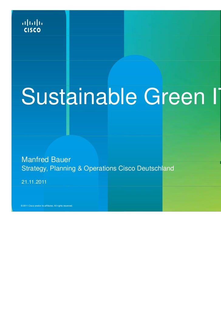 Sustainable Green IT, Cisco Systems