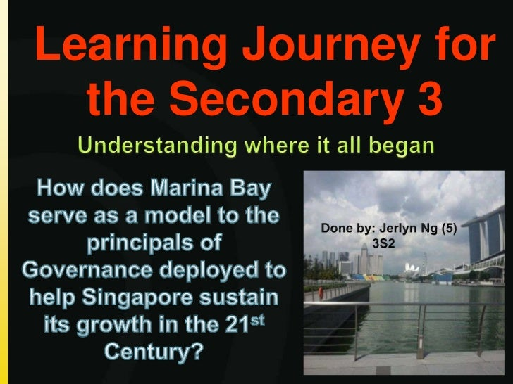 Learning Journey for  the Secondary 3