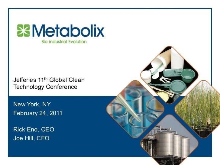 Metabolix presentation