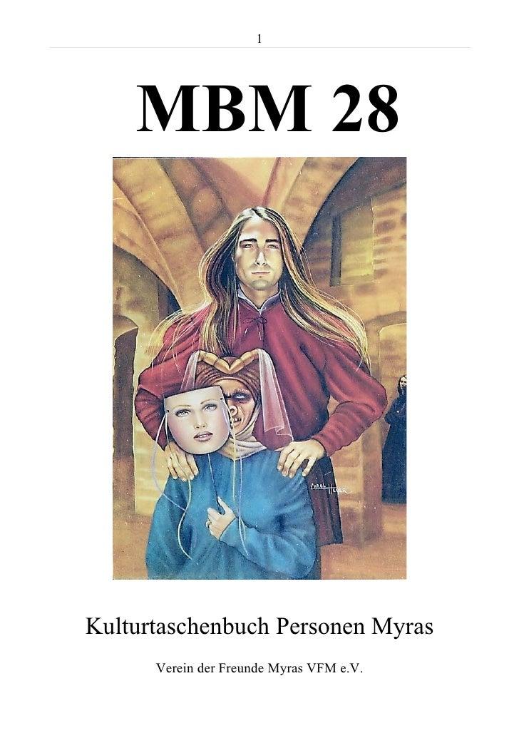 MBM 28 - Kulturtaschenbuch Personen auf Myra