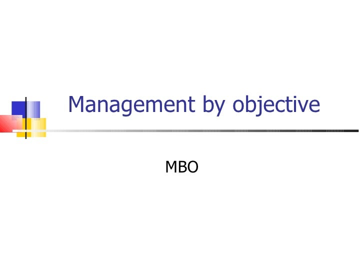 Management by objective MBO