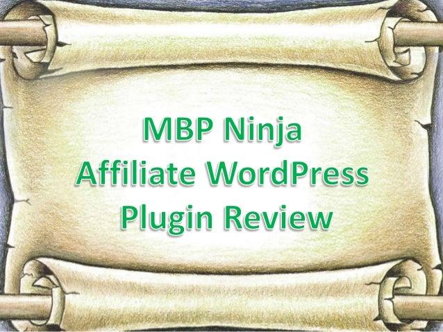 Mbp ninja affiliate word press plugin review