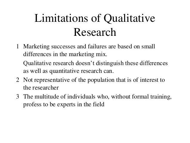 Disadvantages of qualitative research
