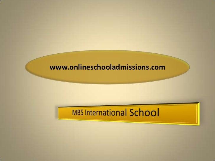 Mbs international school