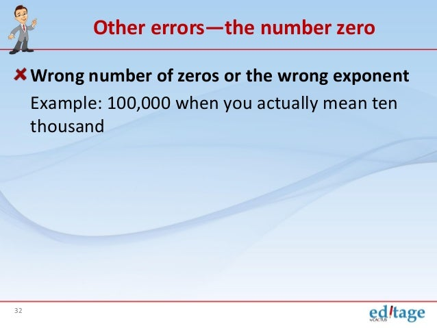Number Zero in Japanese Other Errors—the Number Zero