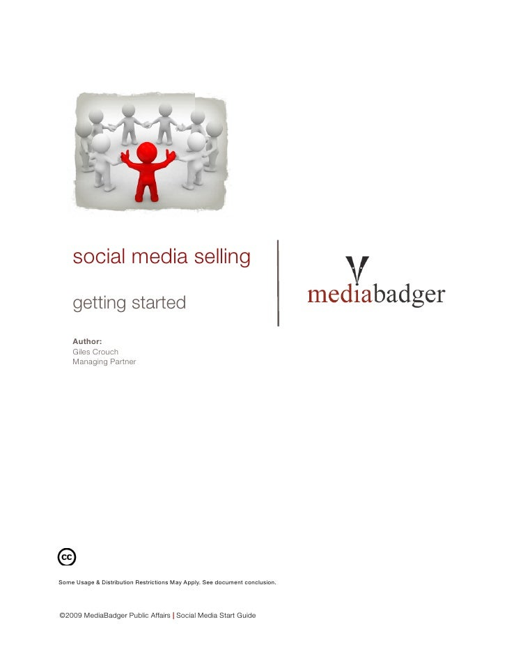 social media selling      getting started     Author:     Giles Crouch     Managing Partner     Some Usage & Distribution ...