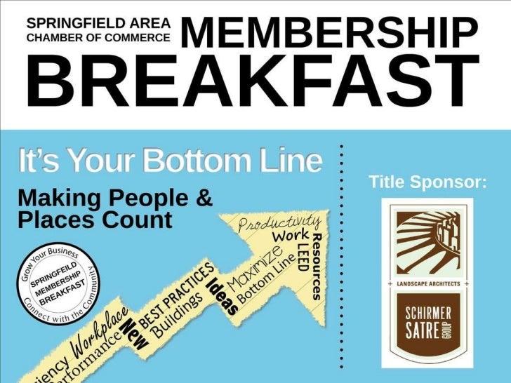 Springfield Chamber Membership Breakfast: Spring 2011