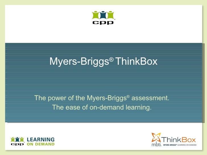 Mbti Think Box Presentation
