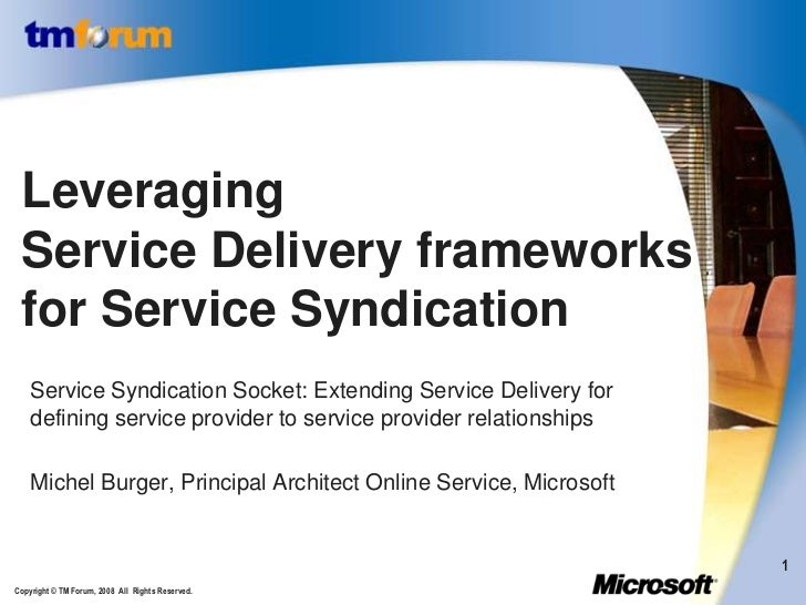 Service syndication