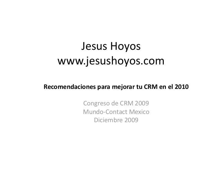 Recomendaciones de CRM