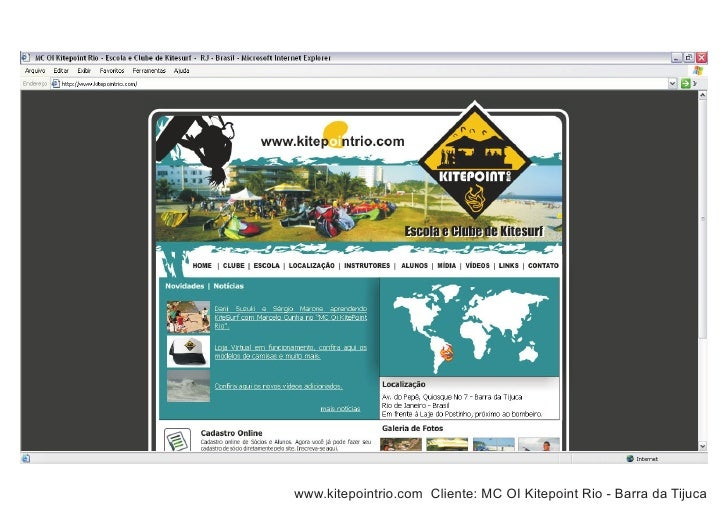 www.kitepointrio.com Cliente: MC OI Kitepoint Rio - Barra da Tijuca