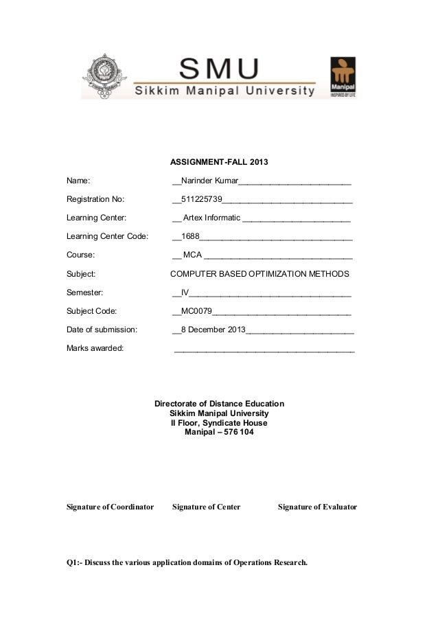 ASSIGNMENT-FALL 2013 Name:  __Narinder Kumar_________________________  Registration No:  __511225739______________________...