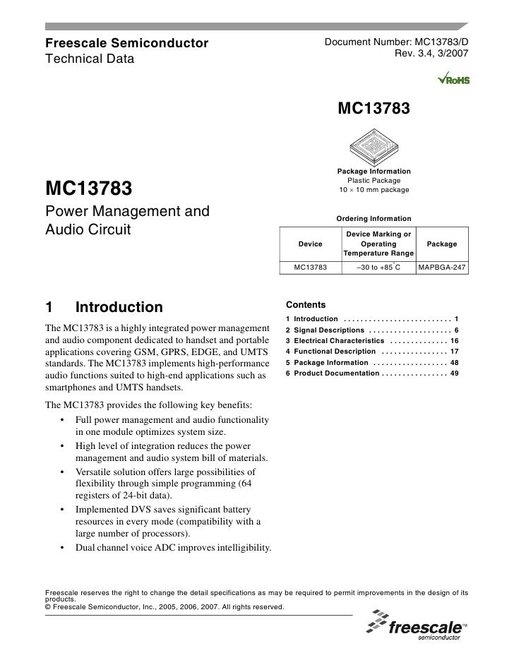 Freescale Semiconductor                                                                 Document Number: MC13783/D        ...