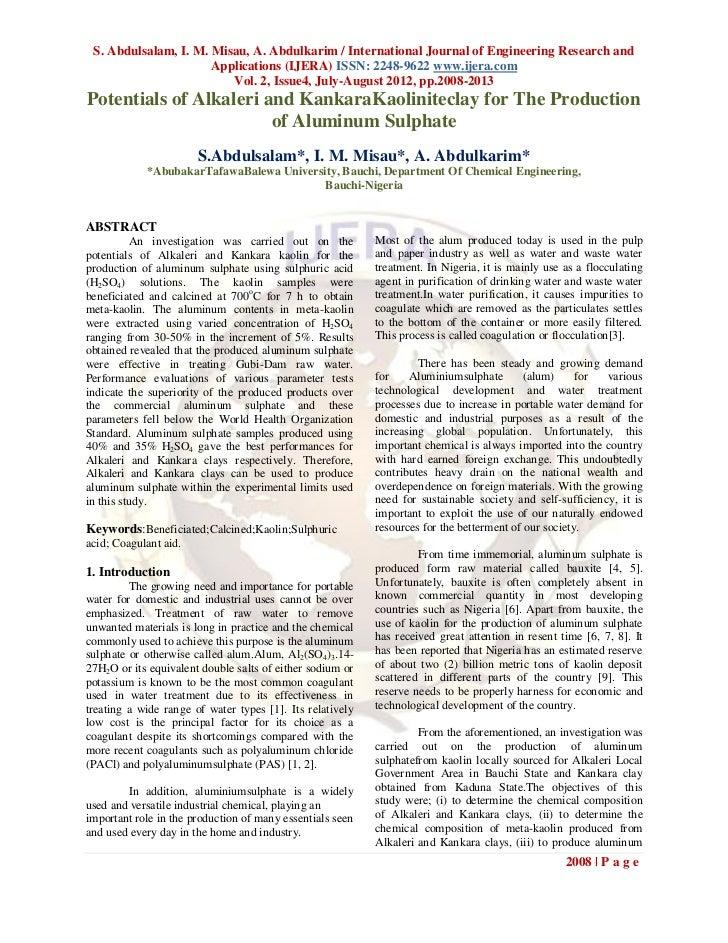 S. Abdulsalam, I. M. Misau, A. Abdulkarim / International Journal of Engineering Research and                      Applica...