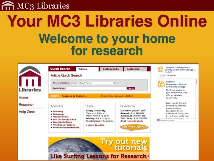 Mc3 lib orientation-website