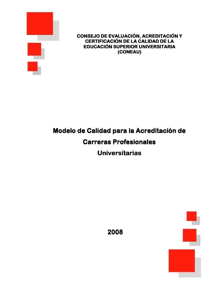 CONSEJO DE EVALUACIÓN, ACREDITACIÓN Y           CERTIFICACIÓN DE LA CALIDAD DE LA          EDUCACIÓN SUPERIOR UNIVERSITARI...