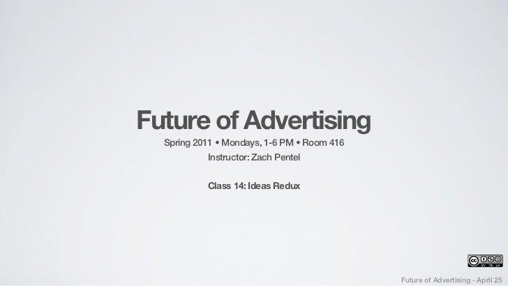 MCAD - FOA 2011 - Class #14