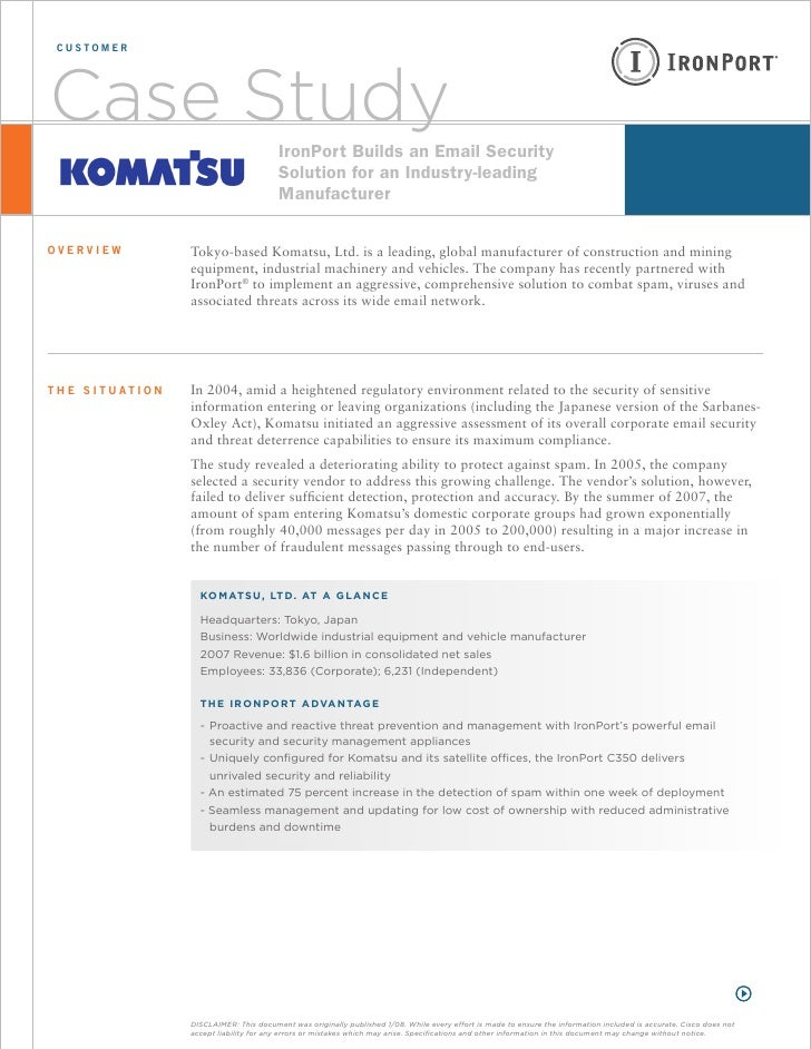 customer     Case Study                                      IronPort Builds an Email Security                            ...