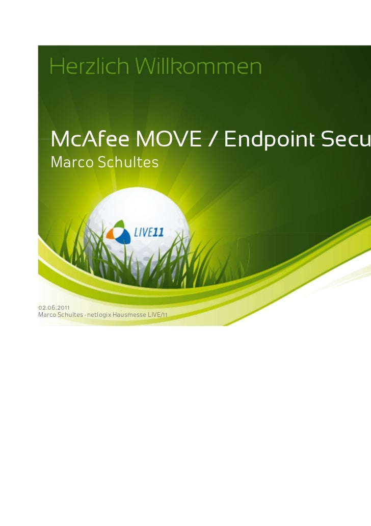 McAfee MOVE & Endpoint Security