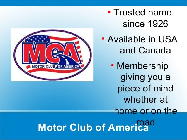 Mca power point presentation Motor club of america careers