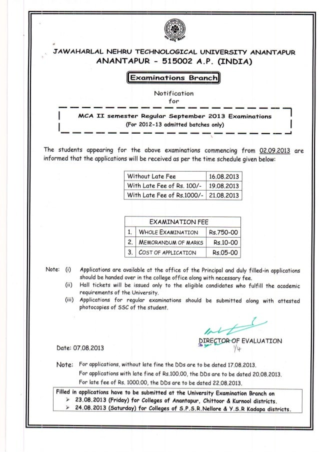 Mca regular and supplementary september 2013 examinations notification and timetables dt 07.08.2013.pdf