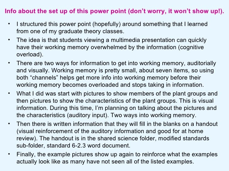 Info about the set up of this power point (don't worry, it won't show up!). <ul><li>I structured this power point (hopeful...