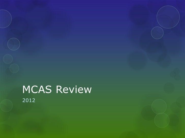 MCAS Review2012