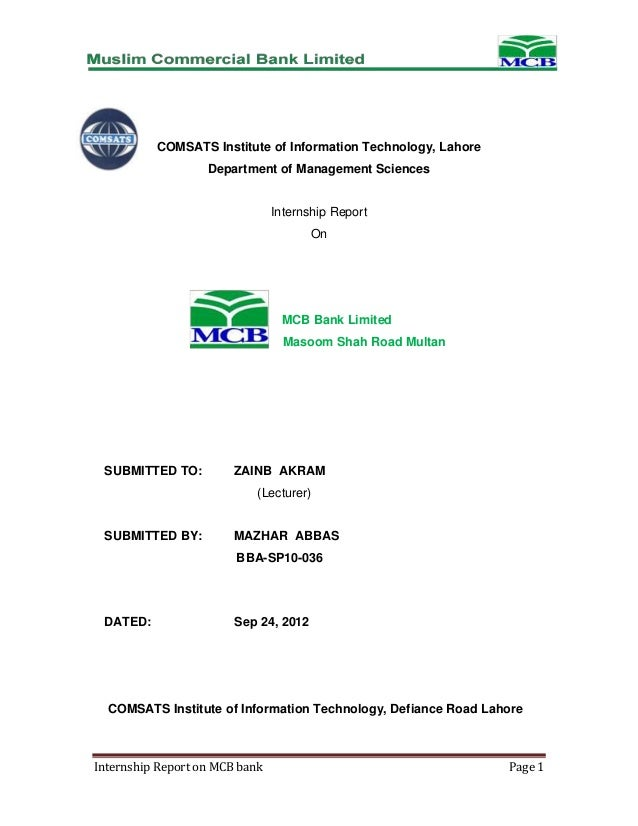 internship report on information technology This report is a short description of two month intership carried out as compulsory component of bachelor's program at the university in this report, i would like to present the basic information about thang long technical joint stock company where i had my internship.