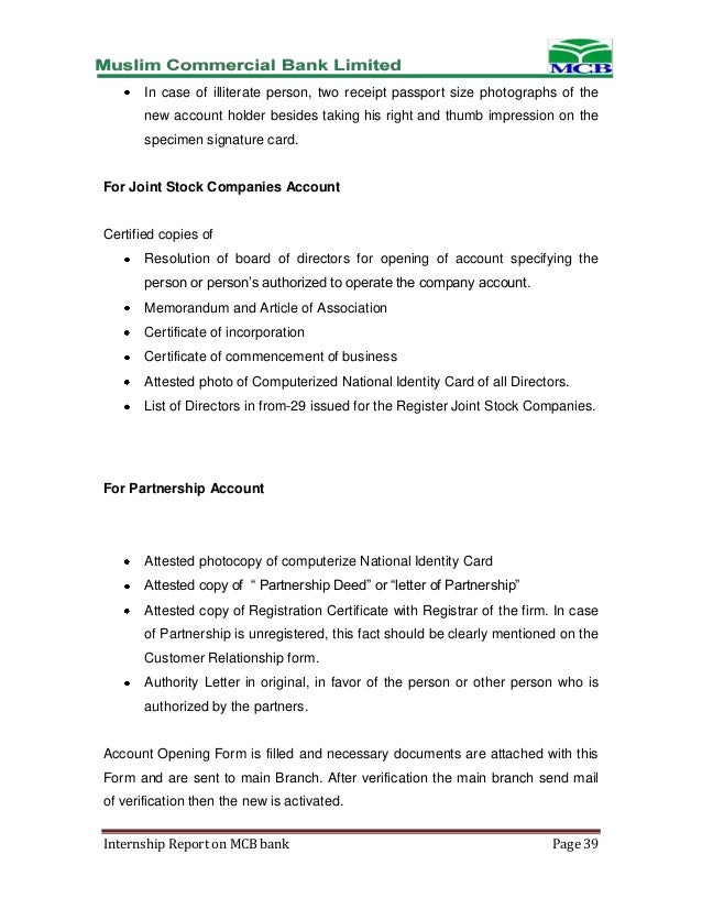 executive summary of mcb internship report Executive summary we did our internship at siddhirganj 2 and this internship report is the result of those 15 days attachment (mcb.