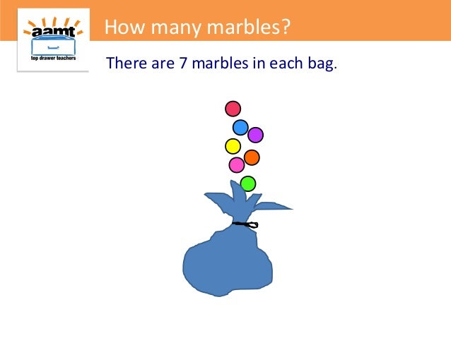 There are 7 marbles in each bag.How many marbles?