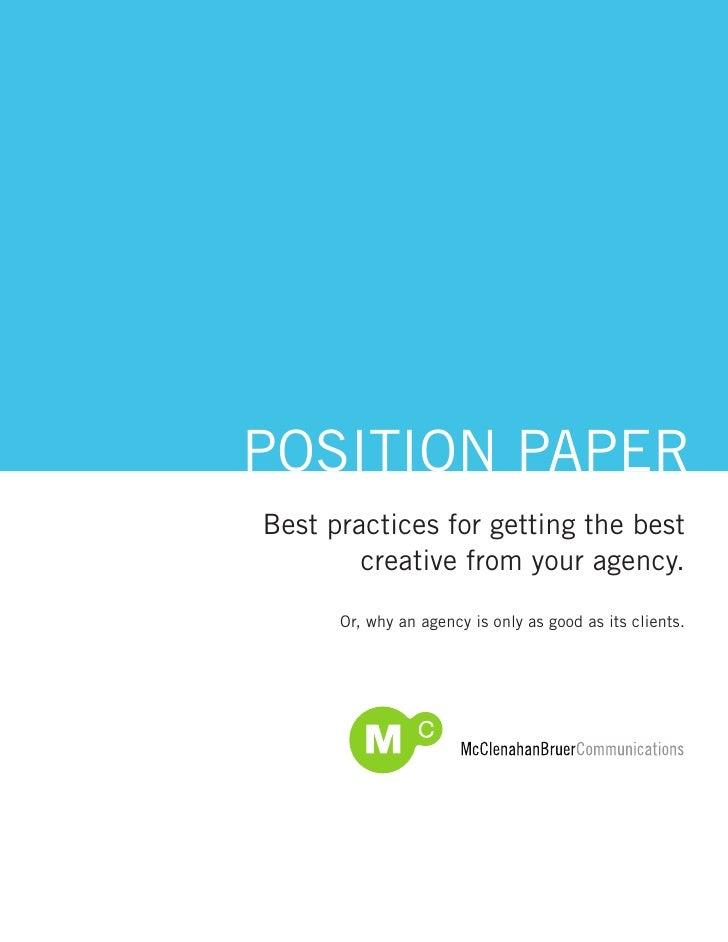 McBru Best Practices: Creative