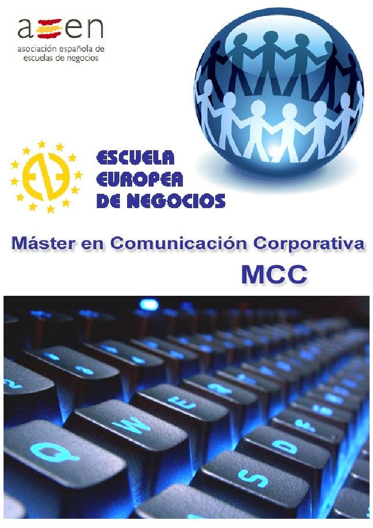 Dossier Máster en Comunicación Corporativa