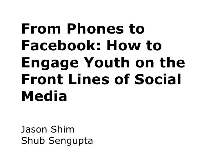 From Phones to Facebook: How to Engage Youth on the Front Lines of Social Media / Jason Shm, Mosaic Counselling & Family Services