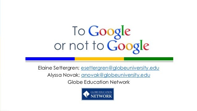 To Google or Not to Google for MCCA 2012