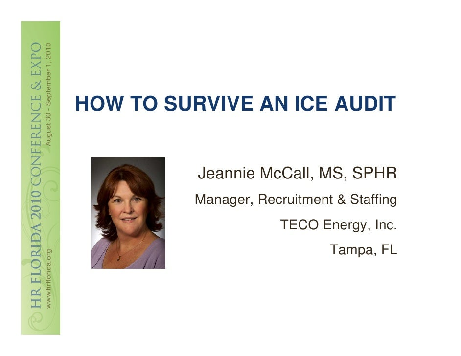 McCall - How to Survive an ICE Audit