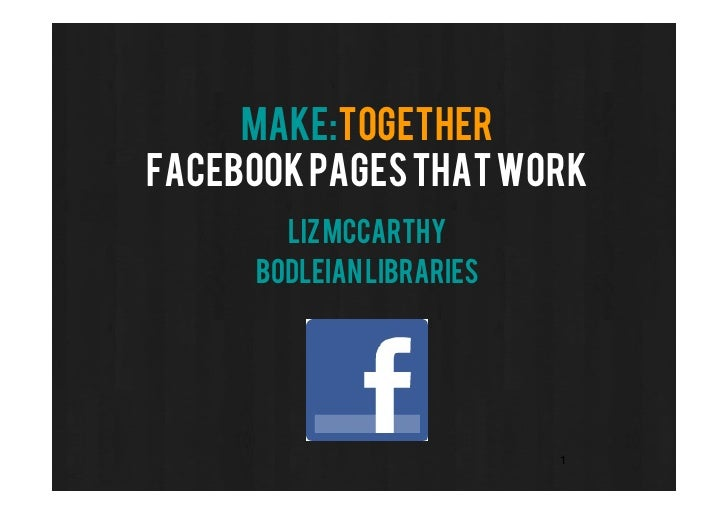 Facebook Pages that Work