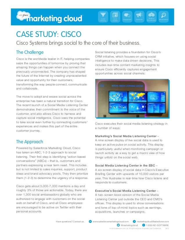 Cisco Social Media Listening Strategy Case Study - Salesforce