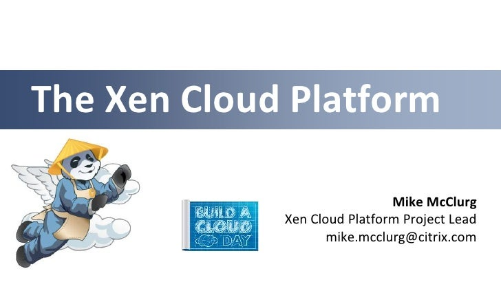 vBACD July 2012 - Xen Cloud Platform