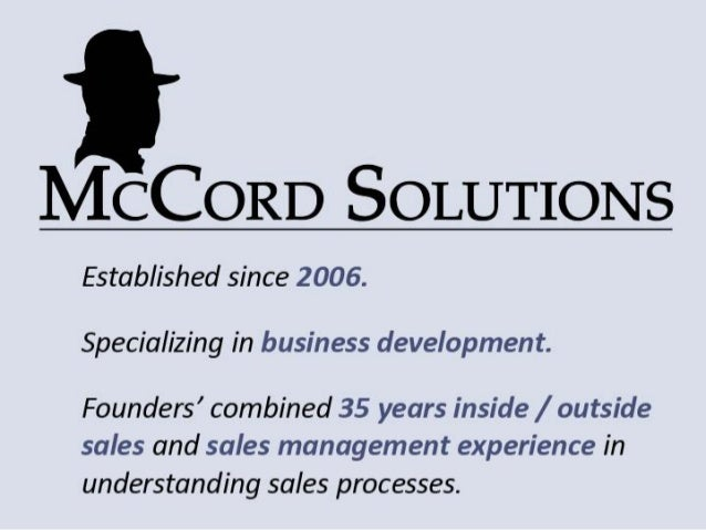 McCord Solutions presentation