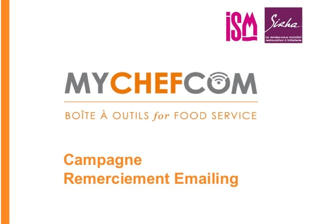 CampagneRemerciement Emailing                        *