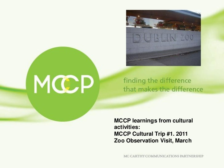 MCCP learnings from cultural activities