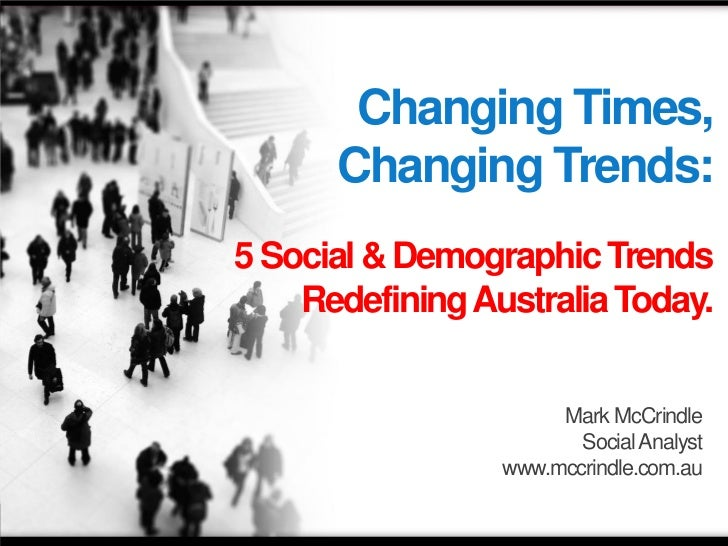 McCrindle Research 5 Social and Demographic Trends Redefining Australia