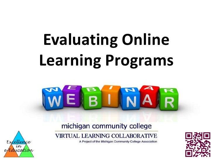 MCCVLC webinar - Online Program Review