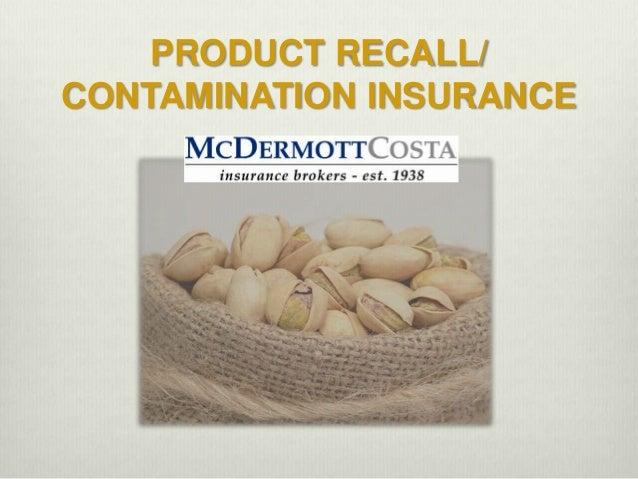 Mc dermott product recall