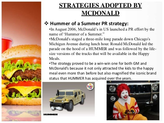 """mcdonald location strategies Mcdonalds strategy mcdonalds strategy according to the mcdonalds 2010 annual report, the company continues to remain in a good position for success because mcdonalds applies the """"plan to win"""" strategy (mcdonalds, 2010-2014."""