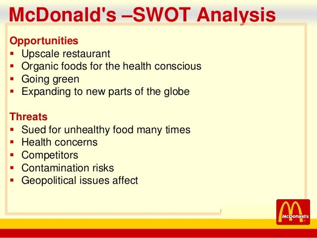 pestle analysis of mcdonalds Pestle analysis of mcdonalds pestle analysis to explain company's international strategy for mcdonald table of content page i introduction 3 ii background 3 iii pestle analysis a factors b factors political 4 economic 4 factors social-cultural 5 technology 5 legal 6.