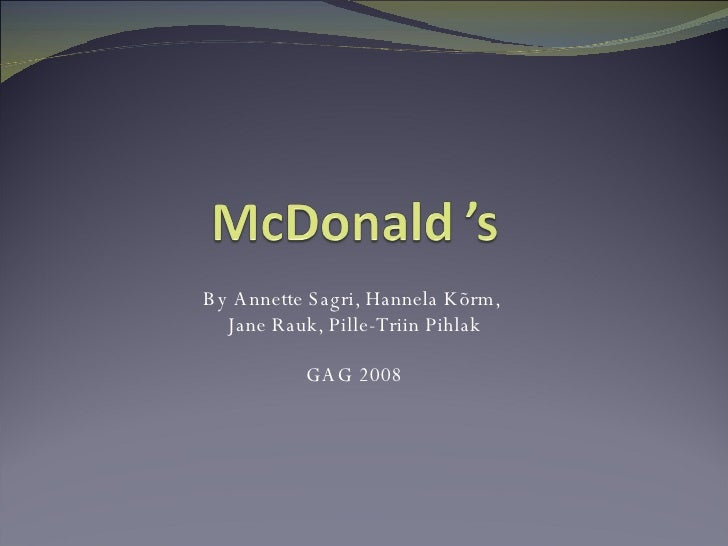 Mc Donald 'S1