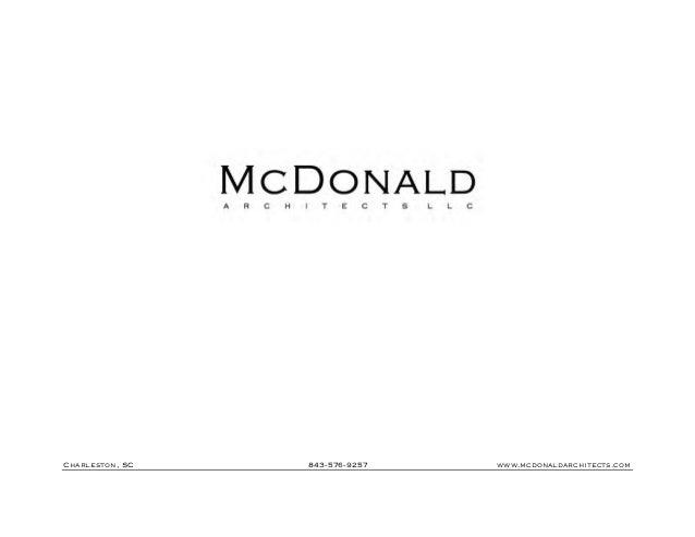 Mc Donald Architects Portfolio - Fall of 2013