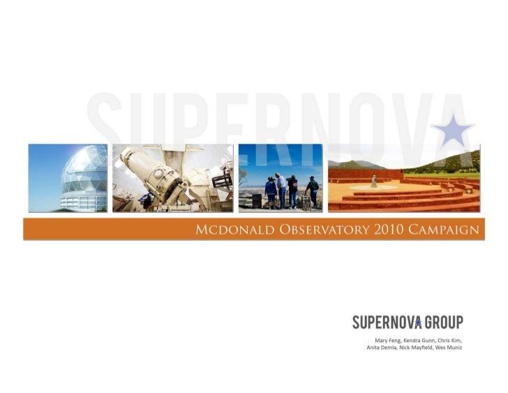 McDonald Observatory Plansbook Fall 2009